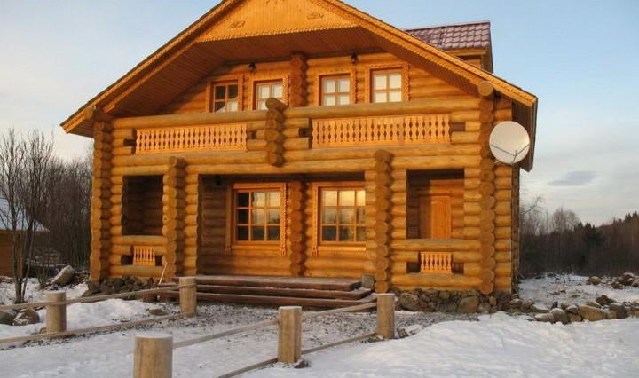 Дом из бревен*